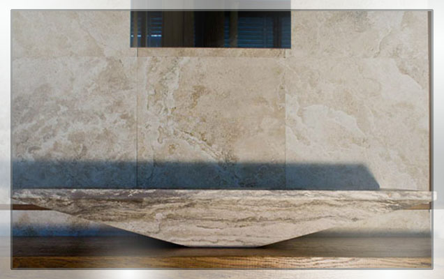 Arredo bagno in marmo lavandino in marmo for Arredo marmo