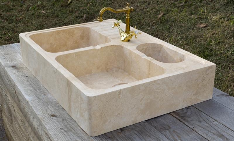 I lavabi da cucina in pietra naturale lavandino in marmo - Top cucina pietra naturale ...