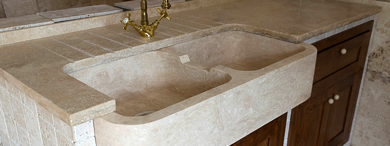 lavello in pietra per piccole cucine - lavandino in marmo - Lavandini Cucina In Pietra