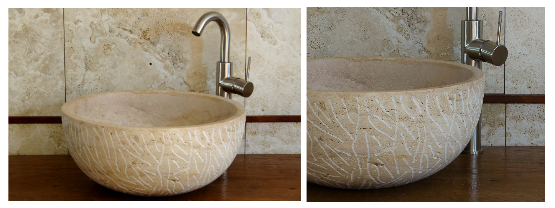 Lavabo in pietra per bagno lavabo da appoggio cilindrico - Lavandino in pietra per esterno ...
