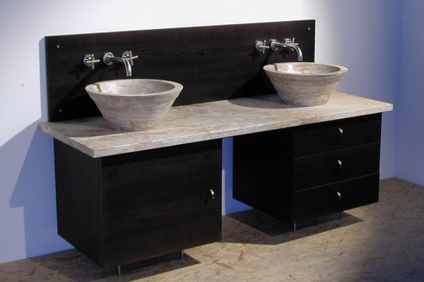 Lavabo in pietra e mobile bagno lavandino in marmo - Mobile bagno con due lavabi ...