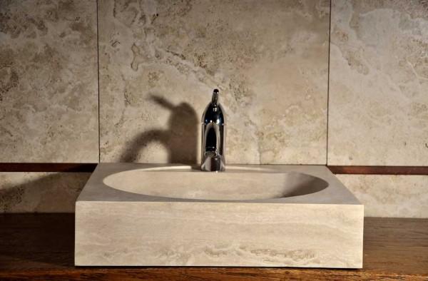 Piccolo Lavandino Quadrato In Pietra 600x394