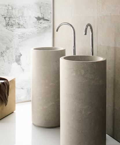 Lavabi da bagno minimali lavandino in marmo for Lavandini bagno design