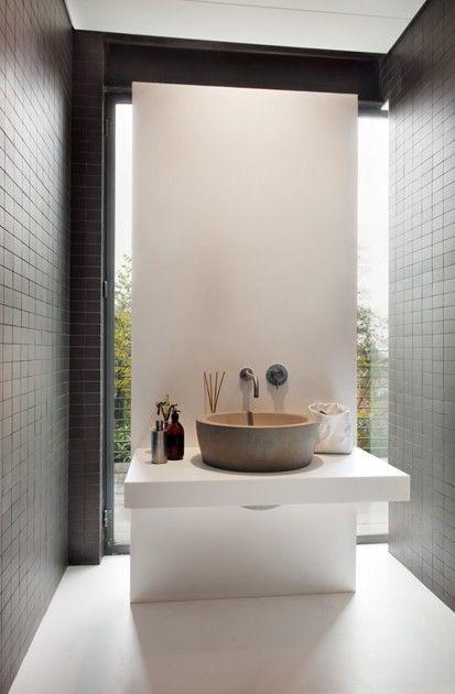 lavabo appoggio circolare pietra relax travertino
