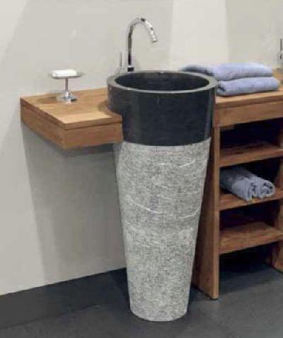 Lavabo colonna mobile in legno su misura arredo bagno for Arredo bagno colonna