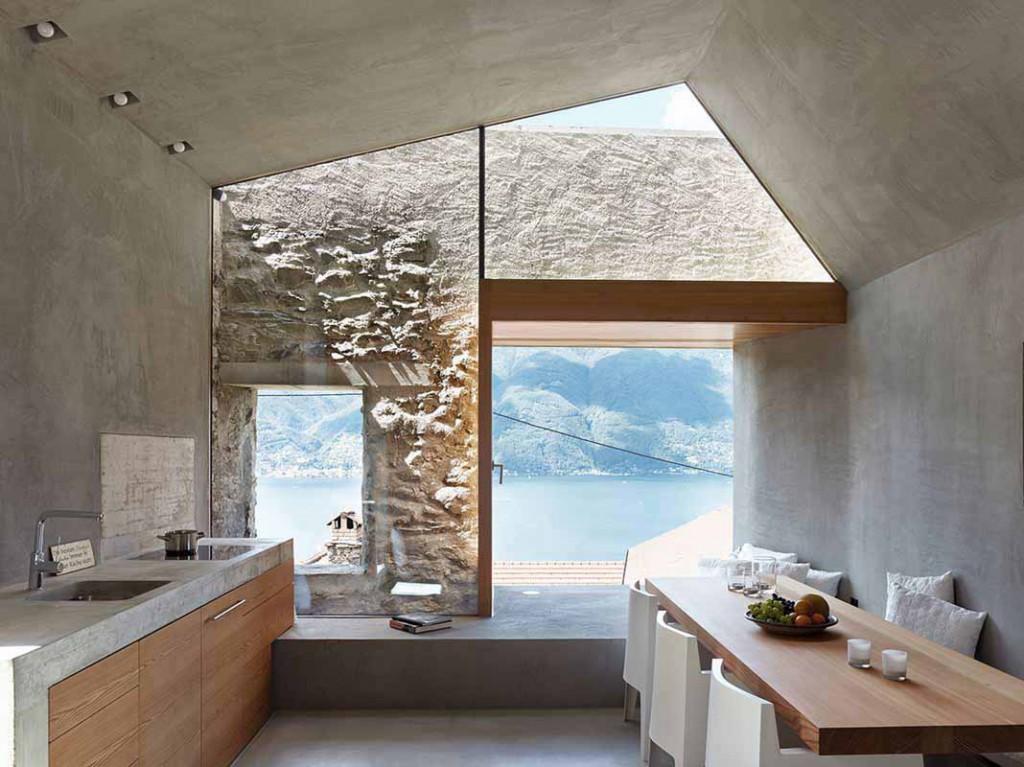 piano cucina  e lavabo in pietra marmo