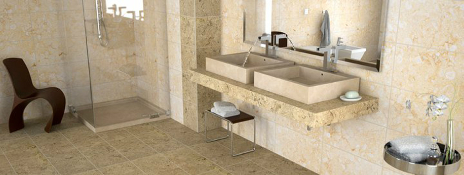 Lavabo da appoggio e piano per il bagno – Lavandino in Marmo