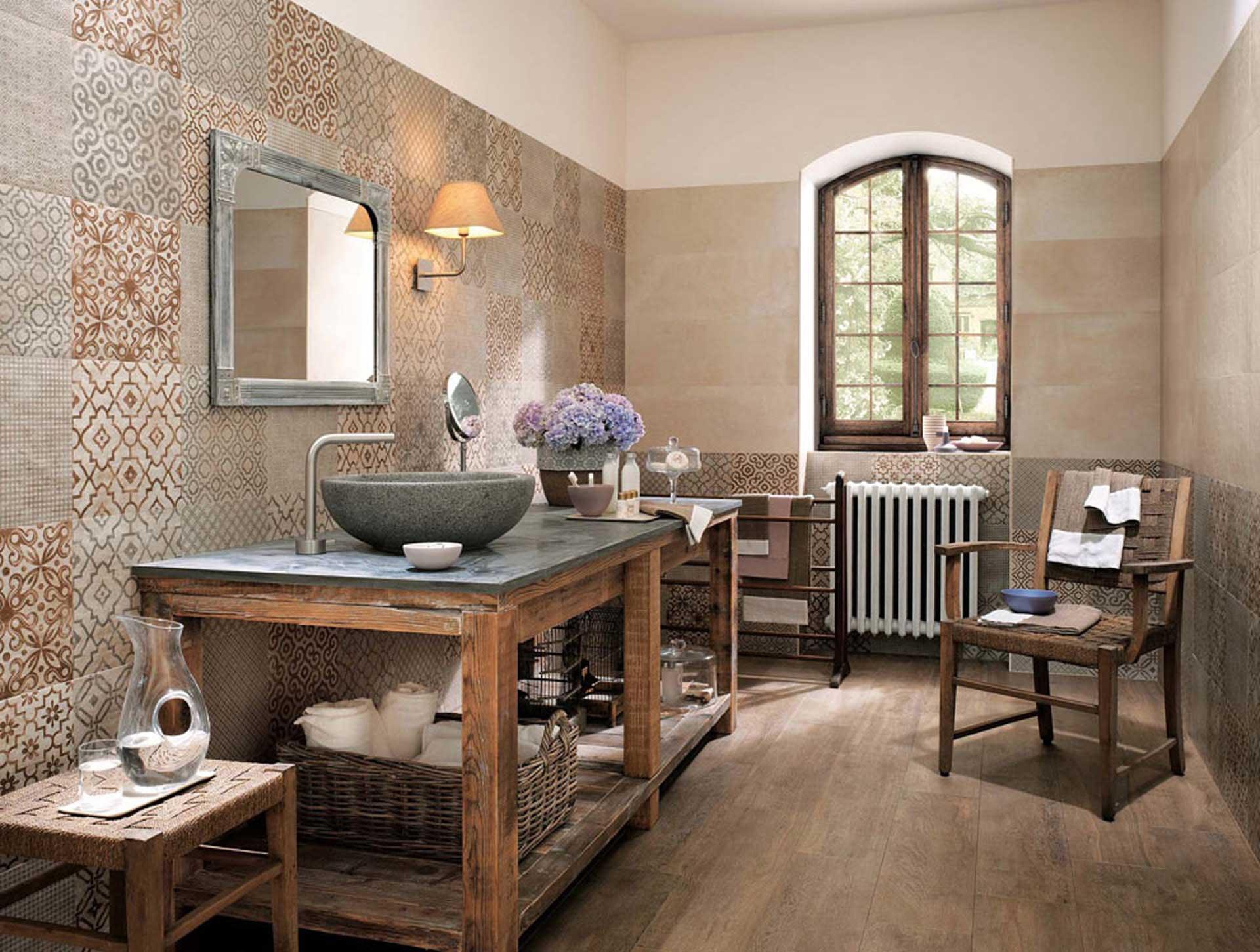 Bagno shabby chic con lavabo in pietra lavandino in marmo - Bagno shabby immagini ...