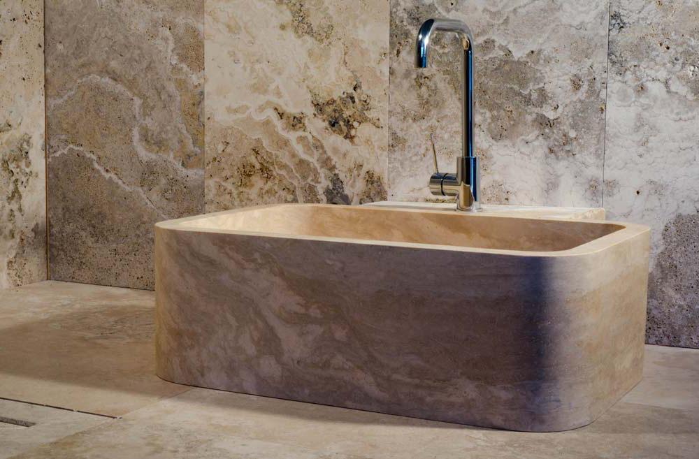 Lavabo cucina in pietra o marmo lavandino in marmo - Vasca da bagno in pietra ...