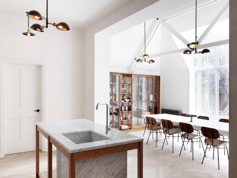 lavabo da cucina in marmo stile moderno industriale di recupero