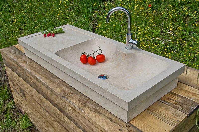I lavabi da cucina in pietra naturale – Lavandino in Marmo