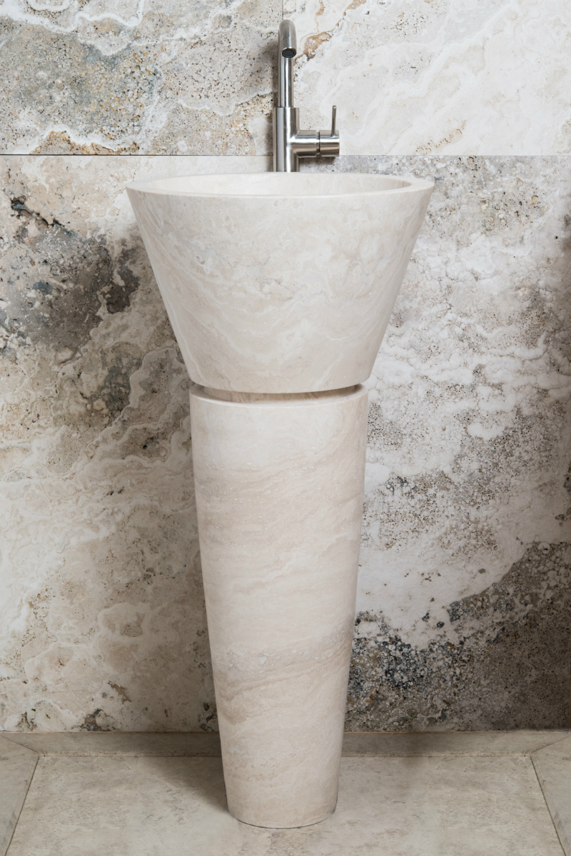 Lavabo A Colonna Design lavabi a colonna in pietra naturale – lavandino in marmo