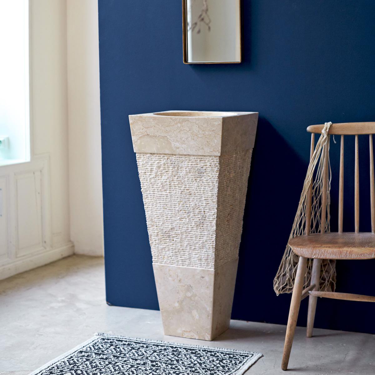 Lavandino Bagno Con Piede lavabi a colonna in pietra naturale – lavandino in marmo
